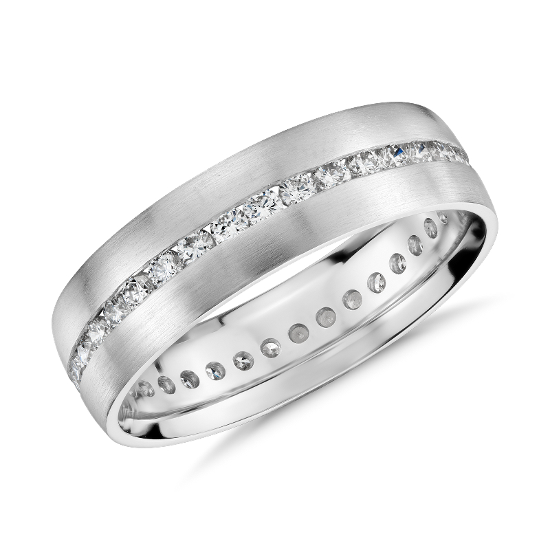 Channel-Set Diamond Eternity Ring in 14k White Gold (6mm)