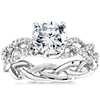 Bague de fiançailles d'éternité tresse de diamants Monique Lhuillier en platine (1/2carat, poids total)