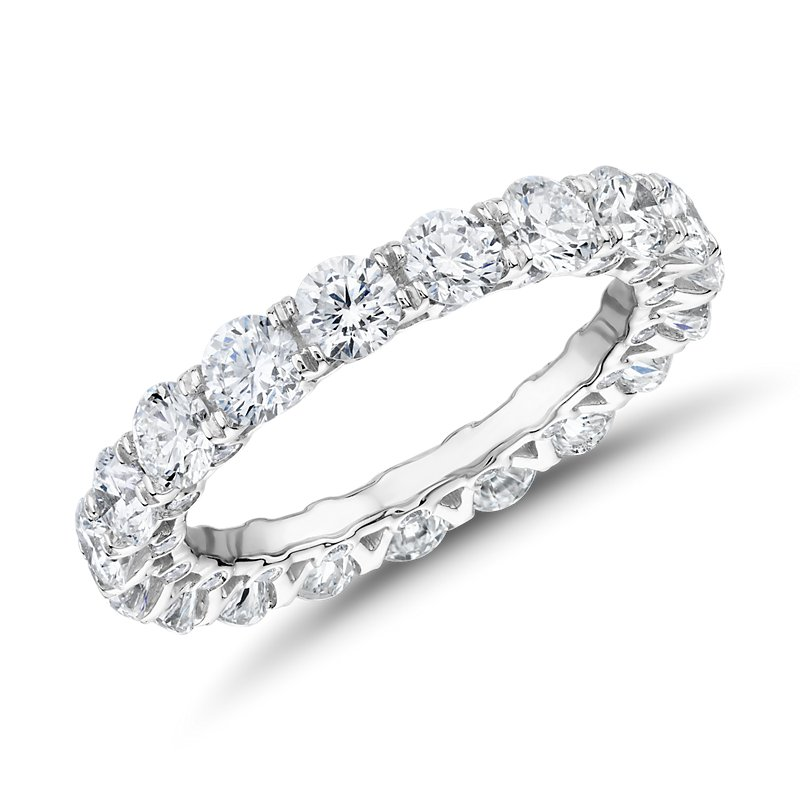 Royal Crown Diamond Eternity Ring in Platinum (3 ct. tw.)