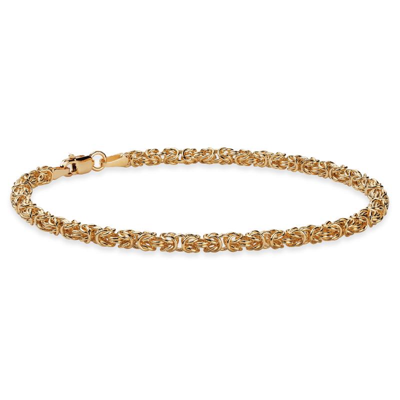 Petite Byzantine Bracelet in 14k Italian Yellow Gold