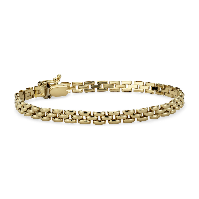 Petite Panther Bracelet in 14k Yellow Gold