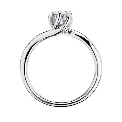 Tapered Twist Six-Prong Solitaire Engagement Ring