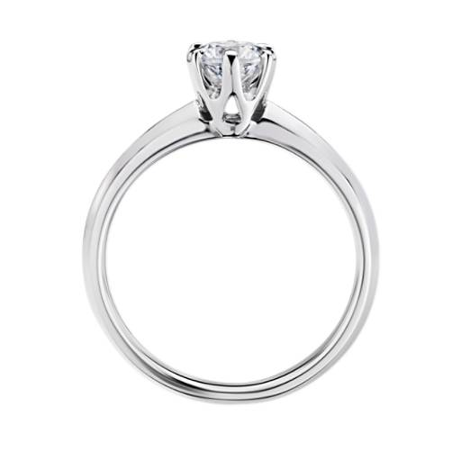 Tiger Prong Trellis Solitaire Engagement Ring