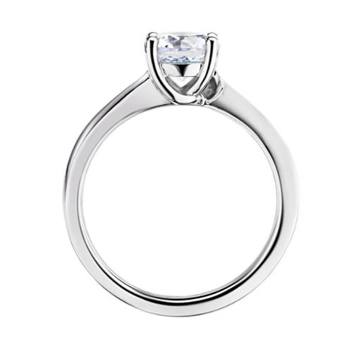 Tapered Twist Four-Prong Solitaire Engagement Ring