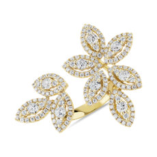 NEW Diamond Foliage Fashion Ring in 14k Yellow Gold