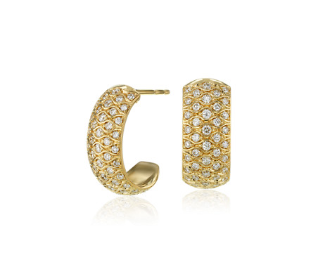 Radiance Diamond Hoop Earrings in 18k Yellow Gold (4/5 ct. tw.)