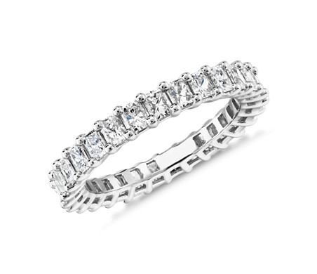 Radiant Cut Diamond Eternity Ring in Platinum (2.0 ct. tw.)