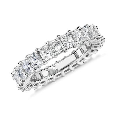 新款 鉑金 雷地恩明亮式切割鑽石永恆戒指 <br>(3.0 克拉總重量)
