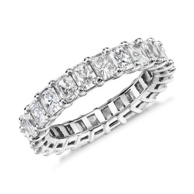 NEW Radiant Cut Diamond Eternity Ring in Platinum (4.0 ct. tw.)