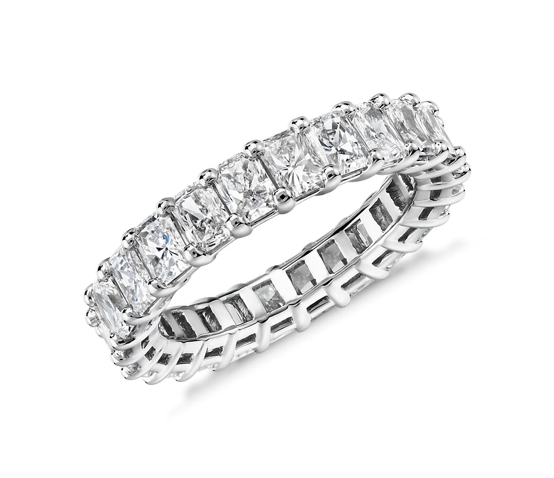 Radiant Cut Diamond Eternity Ring in Platinum (4.0 ct. tw.)