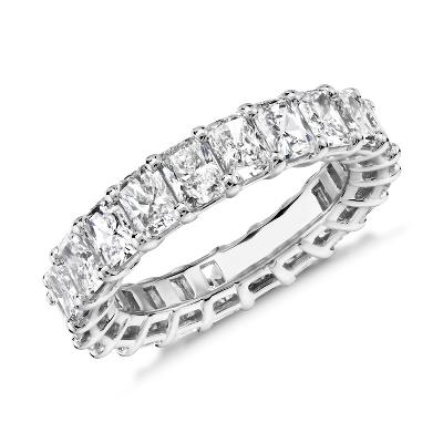 新款 鉑金 雷地恩明亮式切割鑽石永恆戒指 <br>(5.0 克拉總重量)