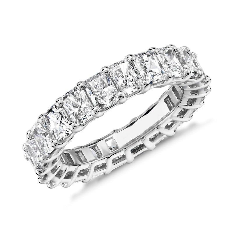 Radiant Cut Diamond Eternity Ring in Platinum (5.0 ct. tw.)