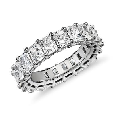 新款 鉑金 雷地恩明亮式切割鑽石永恆戒指 <br>(6.0 克拉總重量)