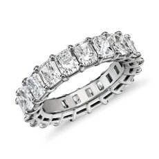 Radiant Cut Diamond Eternity Ring in Platinum (6.0 ct. tw.)
