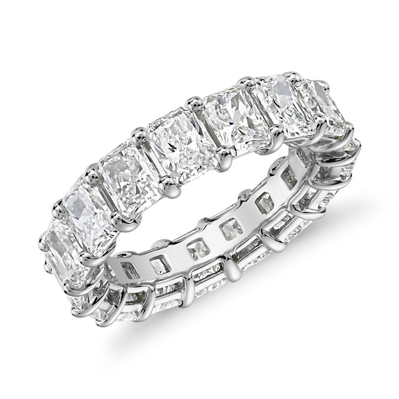 Radiant Cut Diamond Eternity Ring in Platinum (7.0 ct. tw.)