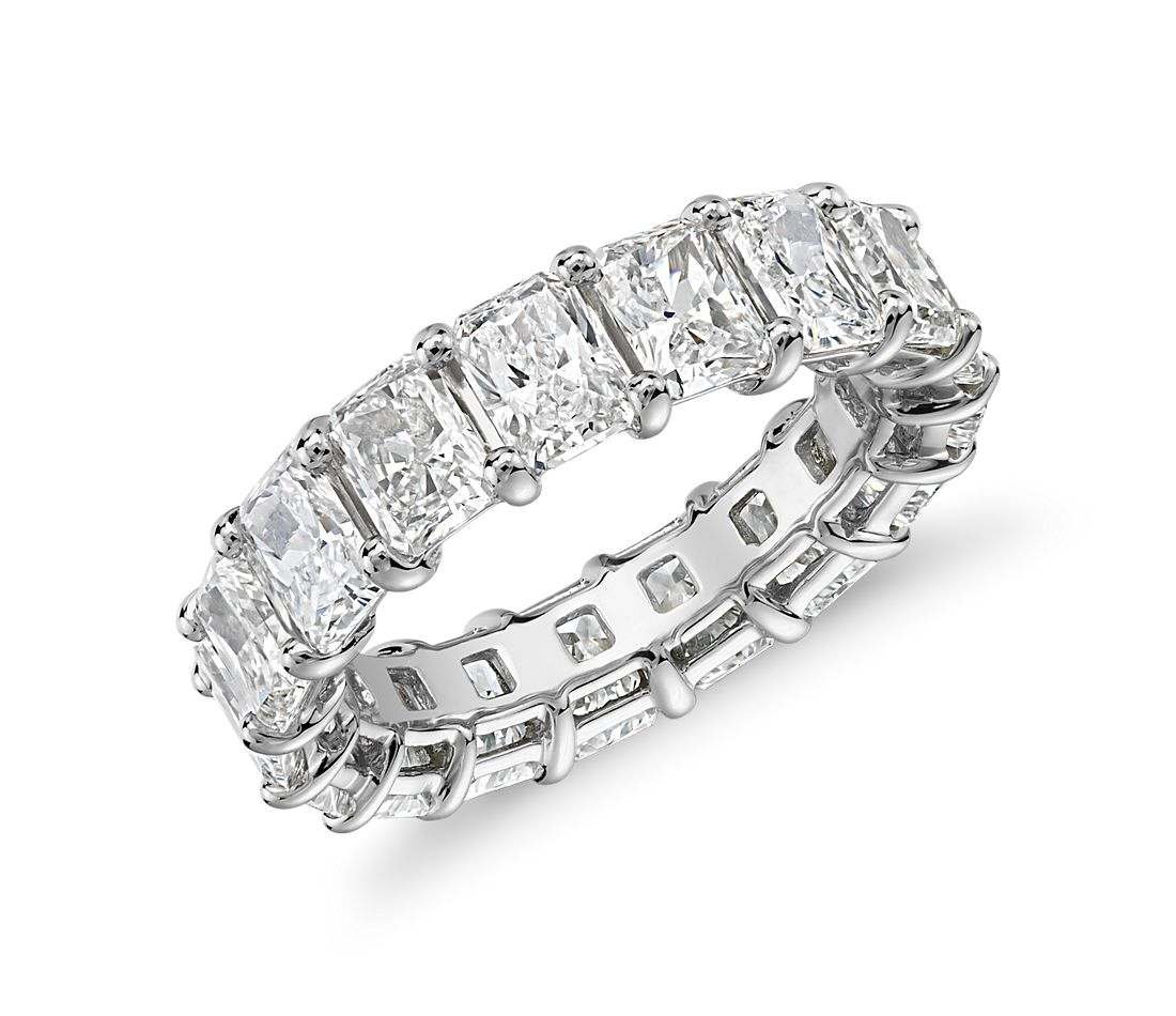 Radiant Cut Diamond Eternity Ring in Platinum (7.0 ct. tw.)