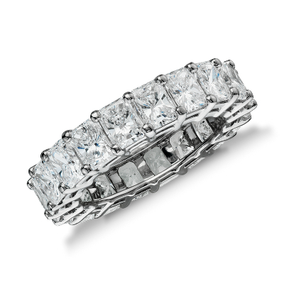 Radiant Cut Diamond Eternity Ring in Platinum (6 ct. tw.)