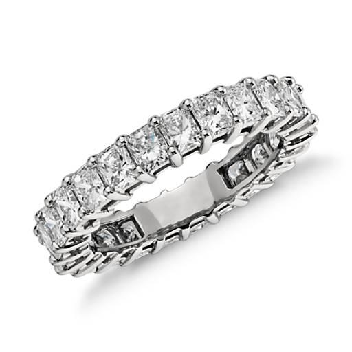 Radiant Cut Diamond Eternity Ring In Platinum 3 Ct Tw