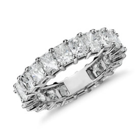 Radiant Cut Diamond Eternity Ring in Platinum (5.00 ct. tw.)