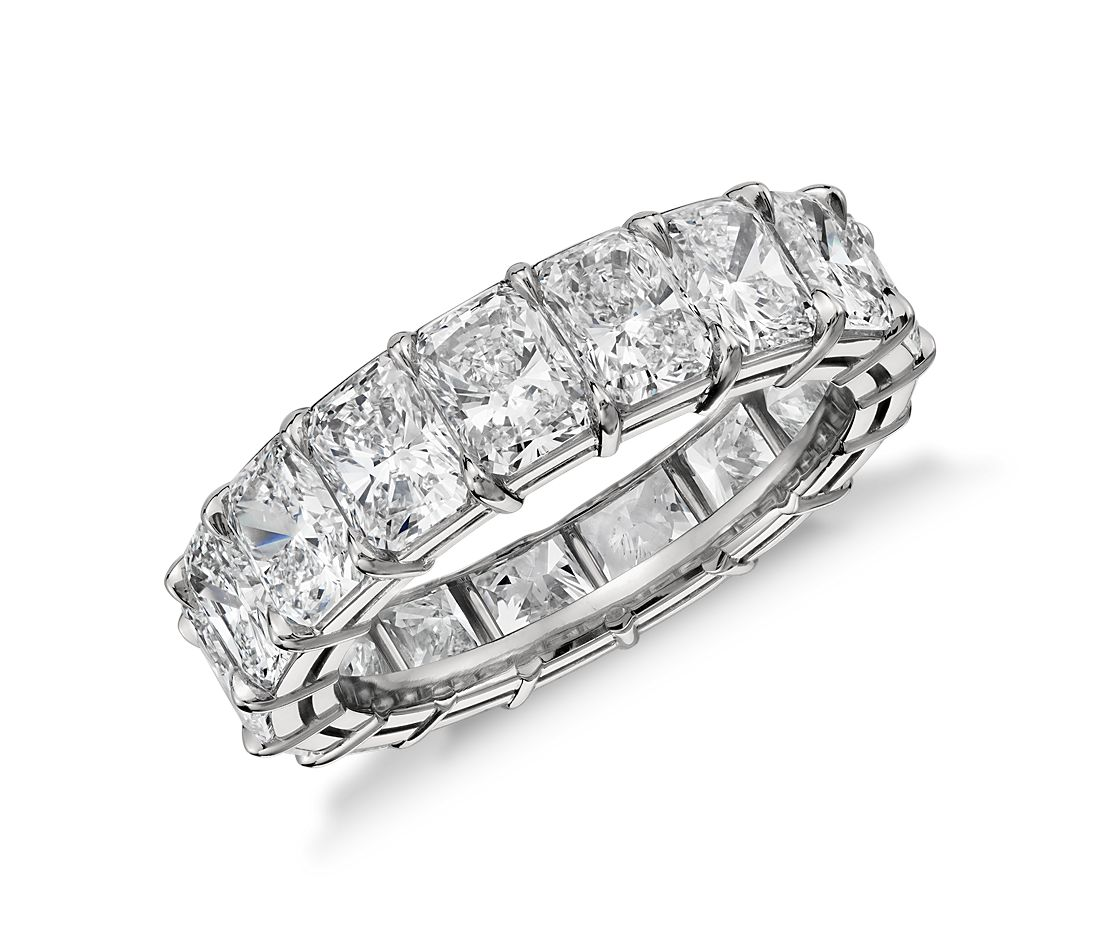 Radiant Cut Diamond Eternity Ring In Platinum 7 Ct Tw