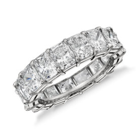 Radiant Cut Diamond Eternity Ring in Platinum (7.00 ct. tw.)
