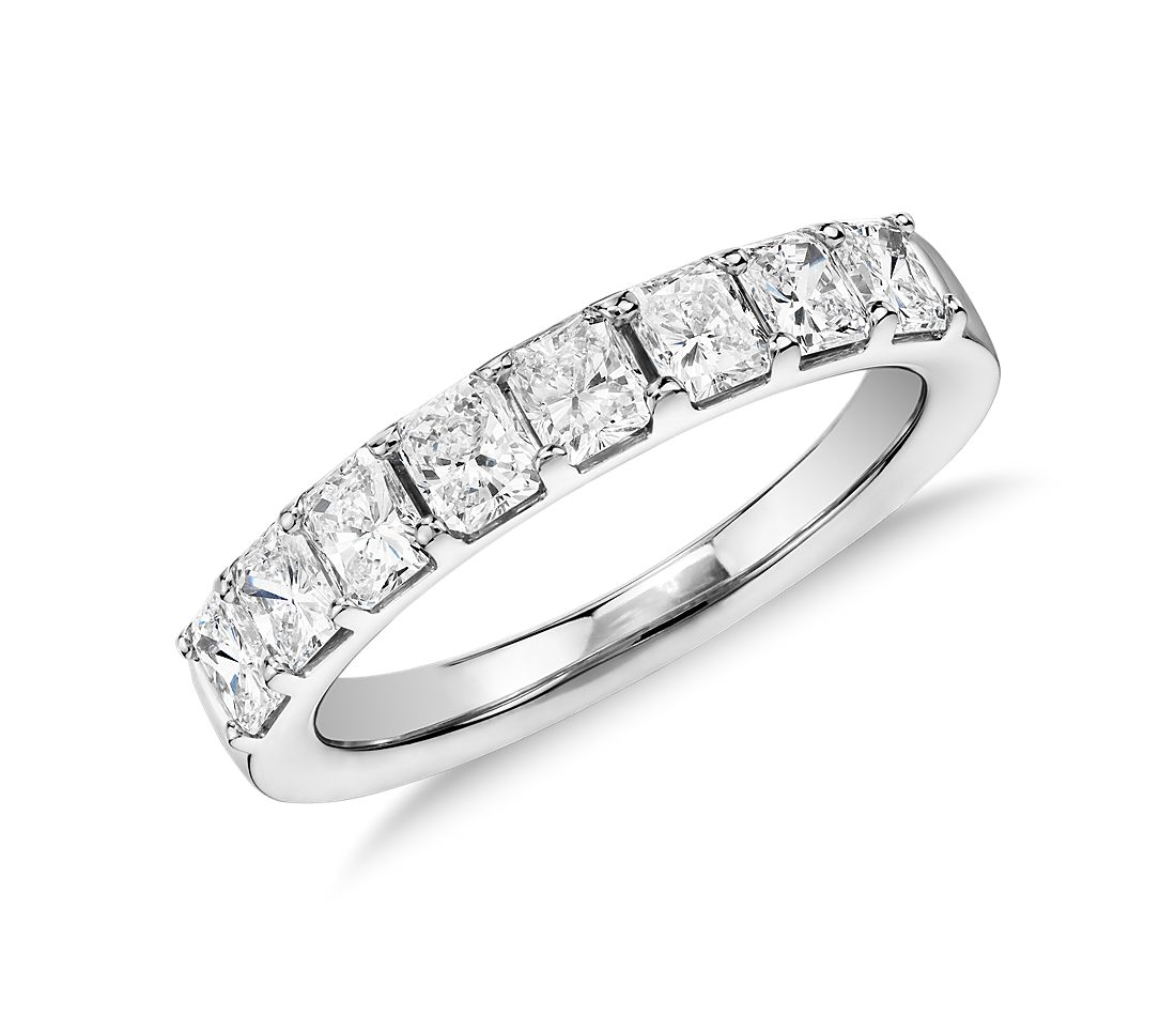 Radiant Cut Eight Stone Diamond Ring in Platinum (1 1/5 ct. tw.)