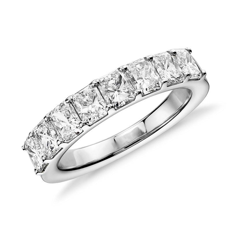 Radiant Cut Eight Stone Diamond Ring in Platinum (2 ct. tw.)