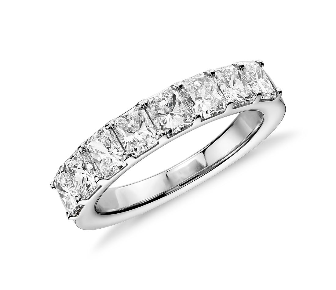 Radiant Cut Eight Stone Diamond Ring in Platinum (2 ct. tw.)