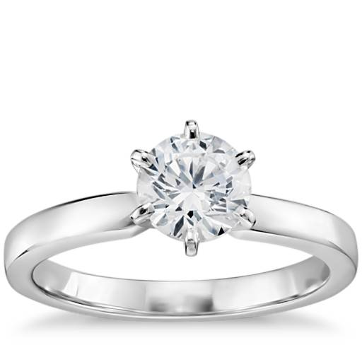 c1210ea730d 3 4 Carat Ready-to-Ship Six-Prong Low Dome Comfort Fit Solitaire Engagement  Ring in 14k White Gold (2mm)