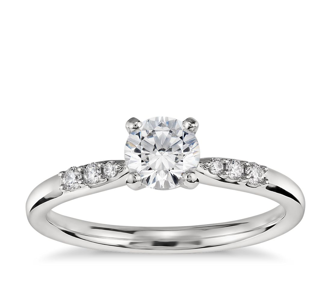 1/2 Carat Ready-to-Ship Petite Diamond Engagement Ring in Platinum