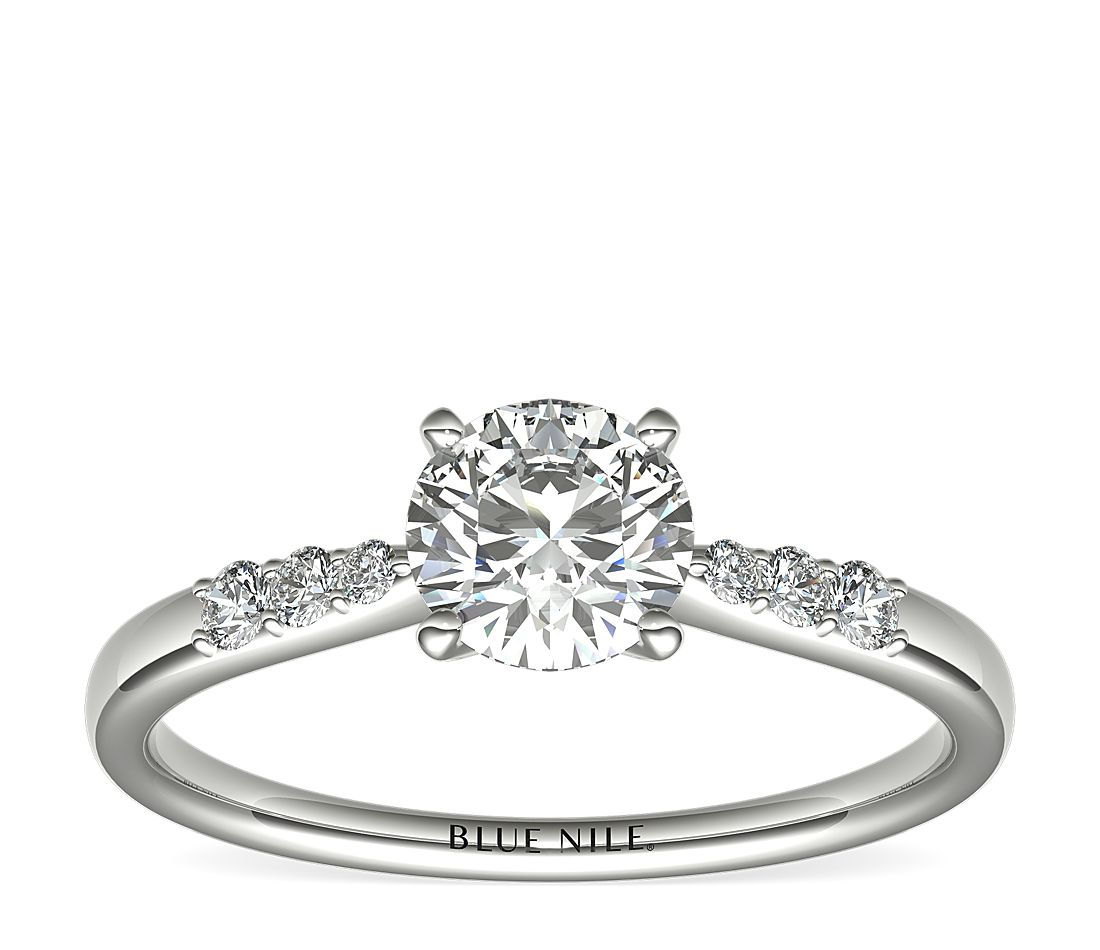 3/4 Carat Ready-to-Ship Petite Diamond Engagement Ring in Platinum