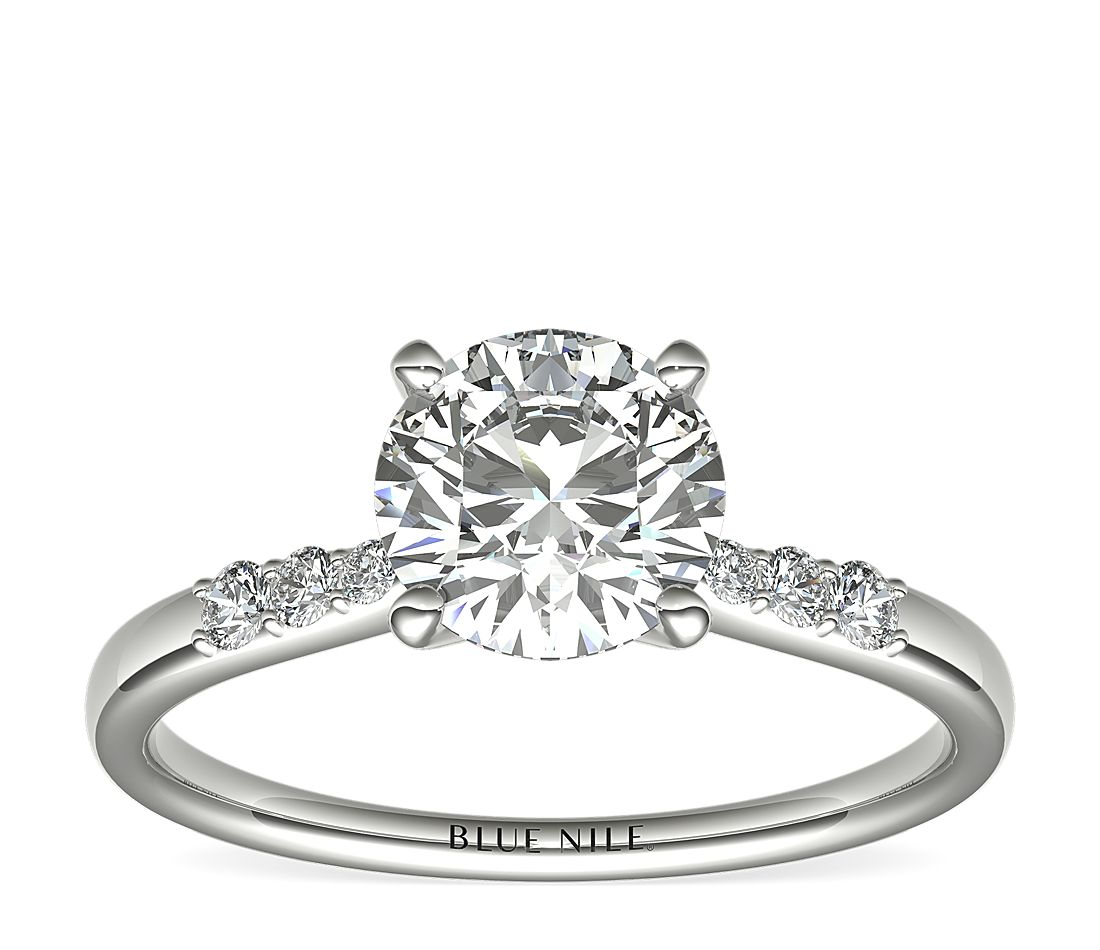 1 Carat Ready-to-Ship Petite Diamond Engagement Ring in Platinum