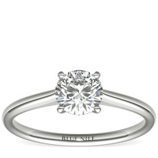 3/4 Carat Ready-to-Ship Petite Solitaire Engagement Ring in 14k White Gold