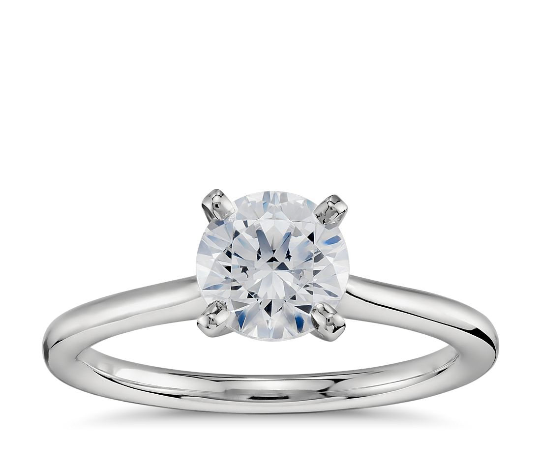 1 Carat Ready-to-Ship Petite Solitaire Engagement Ring in Platinum ... f04e75b33f
