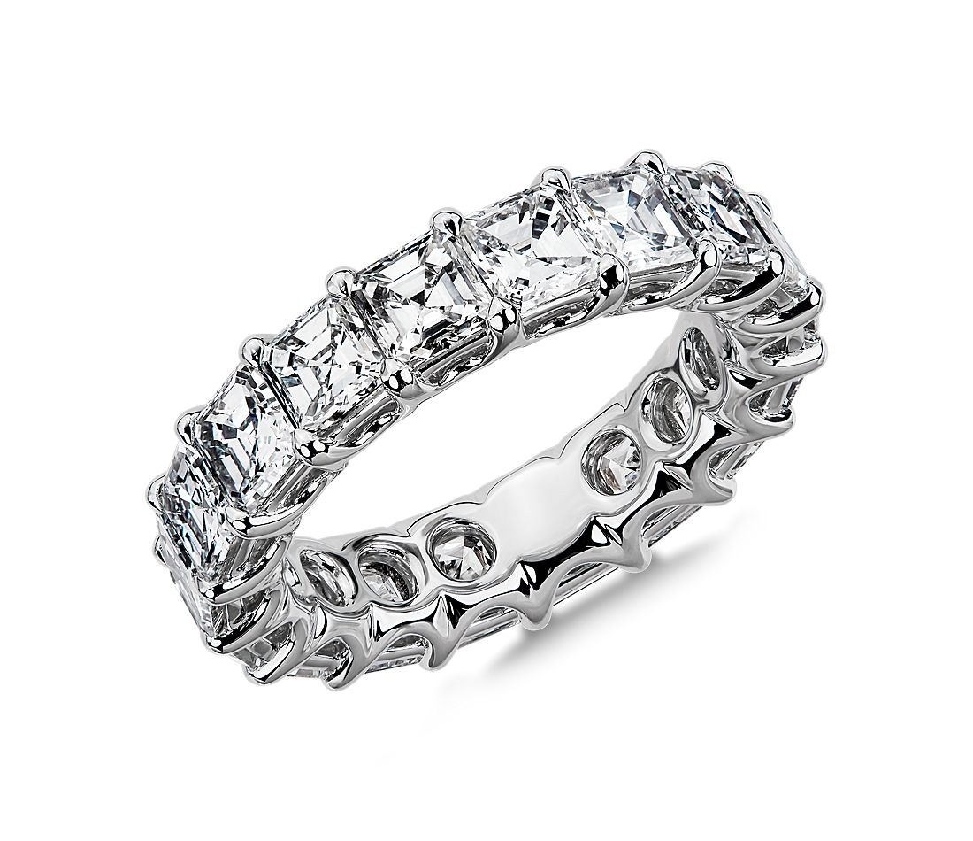 Regal Asscher-Cut Diamond Eternity Ring in Platinum - G/VS2 (5 1/2 ct. tw.)