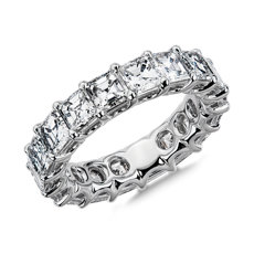 NEW Regal Asscher-Cut Diamond Eternity Ring in Platinum - G/VS2 (5.45 ct. tw.)