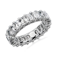 NEW Regal Emerald-Cut Diamond Eternity Ring in Platinum - G/VS2 (5 ct. tw.)