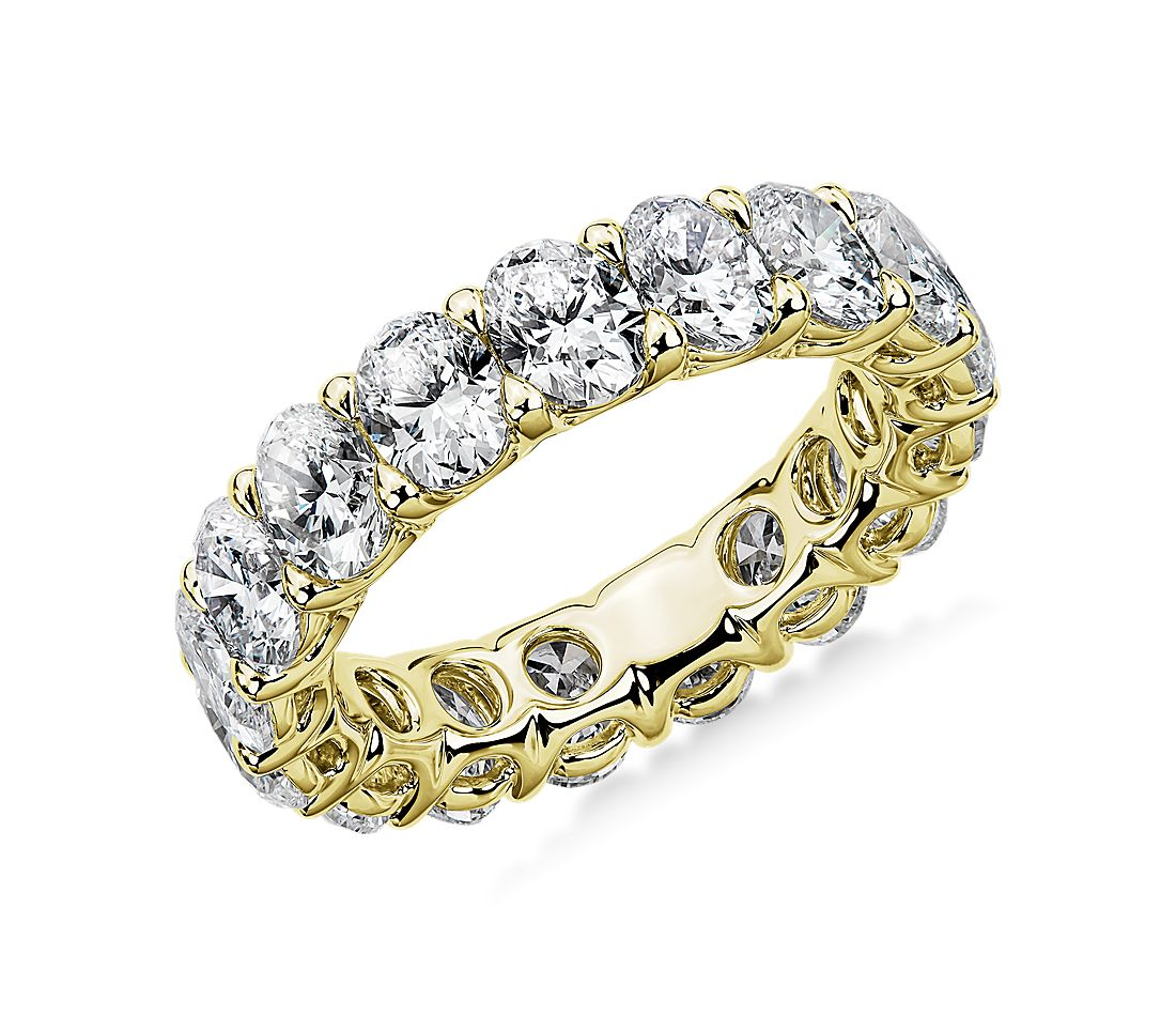 Regal Oval-Cut Diamond Eternity Ring in 18k Yellow Gold - G/SI1 (5 ct. tw.)