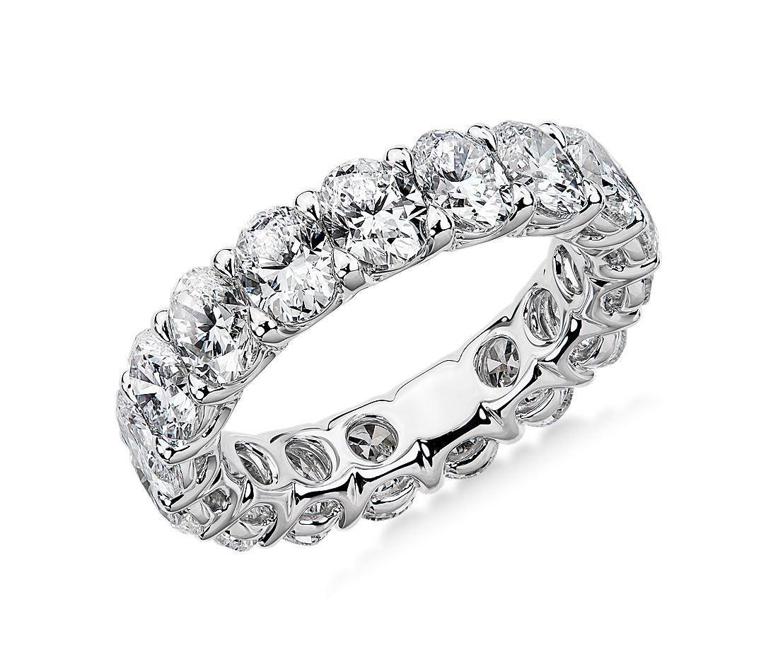 Regal Oval-Cut Diamond Eternity Ring in Platinum - G/SI1 (5 ct. tw.)