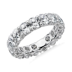 NEW Regal Oval-Cut Diamond Eternity Ring in Platinum - G/SI1 (5 ct. tw.)