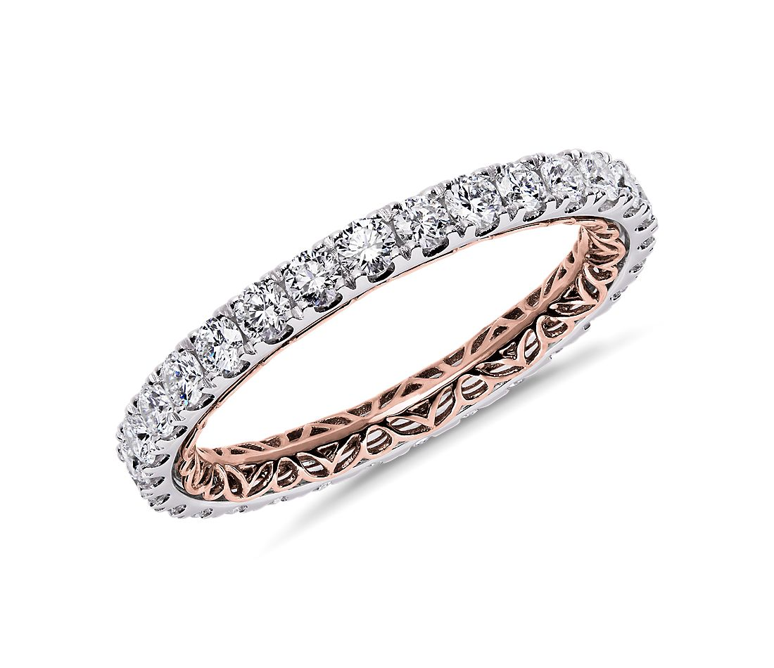 Regalia Diamond Eternity Ring in 14k White and Rose Gold (1 ct. tw.)