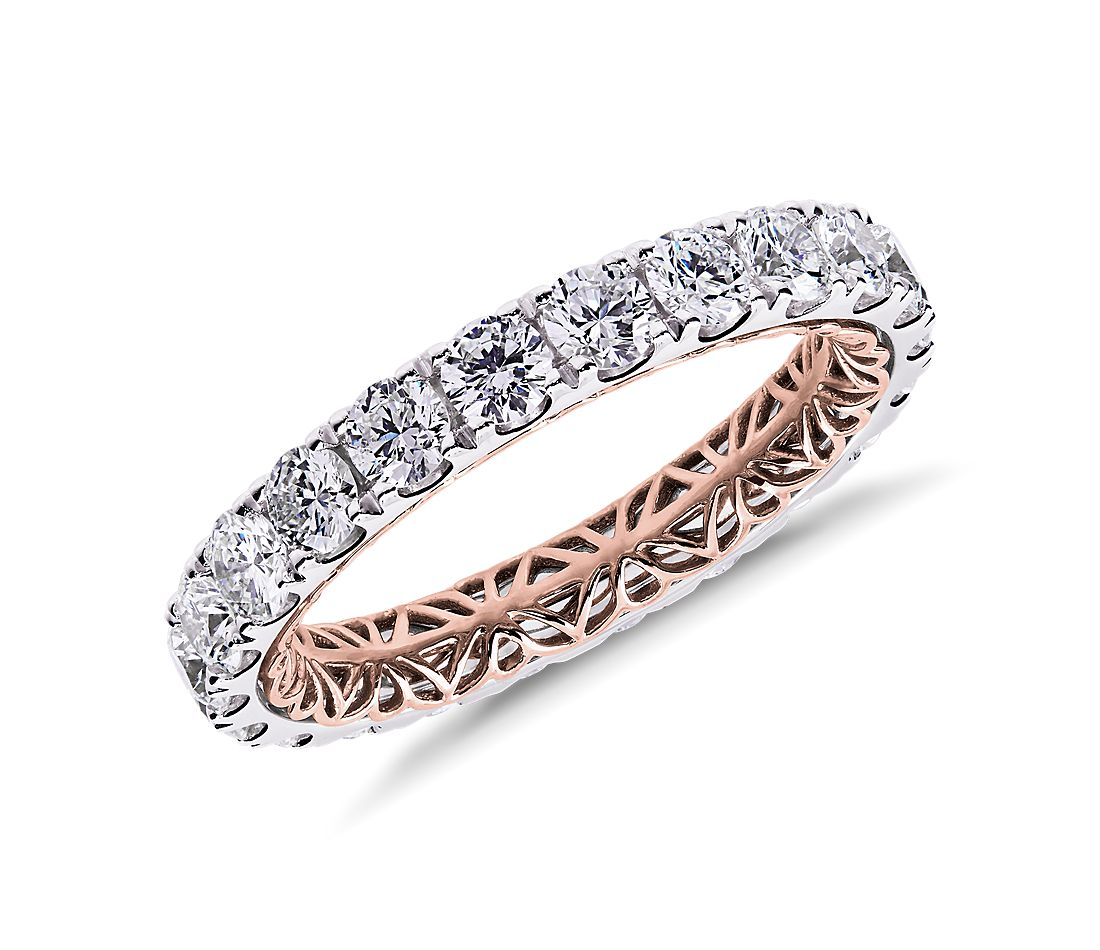 Regalia Diamond Eternity Ring in 14k White and Rose Gold (2 ct. tw.)