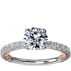 NEW Regalia Two-Tone Diamond Engagement Ring in 14k White and Rose Gold (1/2 ct. tw.)