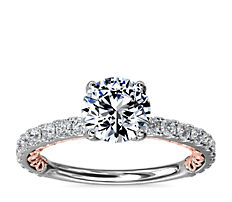 Regalia Two-Tone Diamond Engagement Ring in 14k White and Rose Gold (1/2 ct. tw.)