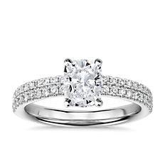 Bague de fiançailles Rialto en diamants sertis pavé en or blanc 14carats (0,32ct, poids total)