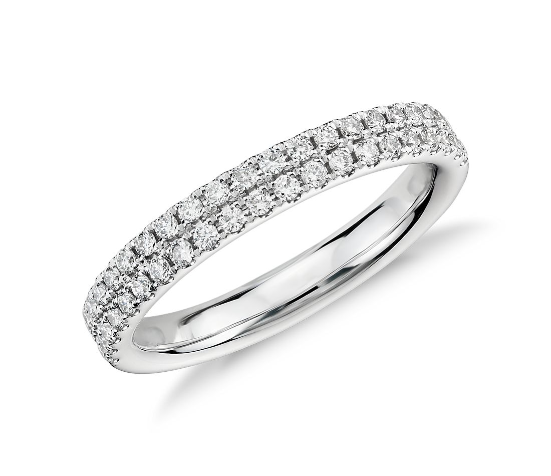Bague Rialto en diamants sertis pavé en or blanc 14 carats