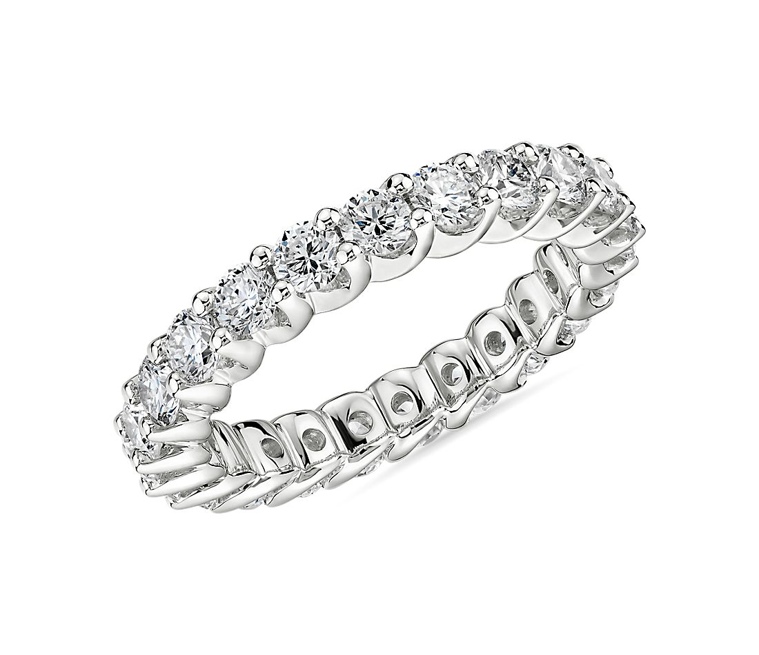 Ribbon Profile Diamond Eternity Band in 18k White Gold (1.89 ct. tw.)