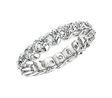 NEW Ribbon Profile Diamond Eternity Band in 18k White Gold (2.89 ct. tw.)