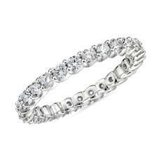 Ribbon Profile Diamond Eternity Ring in 18k White Gold (0.99 ct. tw.)