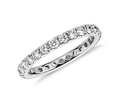 Riviera Pavé Diamond Eternity Ring in Platinum (0.95 ct. tw.)